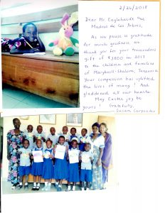 La Madre | Maryknoll Kindergarten in Tanzania sends Easter Thank You