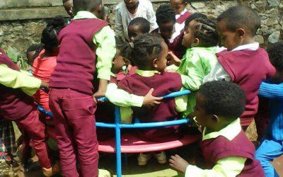 Fun at St. Mary's School in Ghimbi